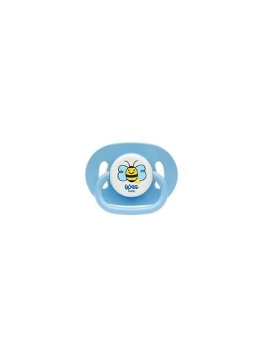 Wee Baby Wee Baby Oval Gövdeli Yuvarlak Uçlu Emzik 18+Ay No:3 831 Mavi